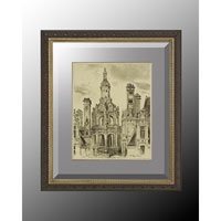 John Richard Architectural Wall Decor Open Edition Art in Soft Silver GRF-5035C