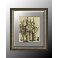 John Richard Architectural Wall Decor Open Edition Art in Soft Silver GRF-5035D