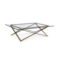 Signature 60 inch Oiled Brass Coffee Table Home Decor