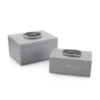 Geode Grey and Black Box, Set of 2