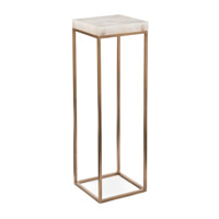 Calcite 11 inch Gold and White Accent Table Home Decor