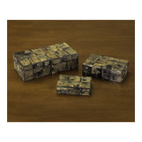 John Richard Boxes Set of 3 Decorative Accessory JRA-8070S3