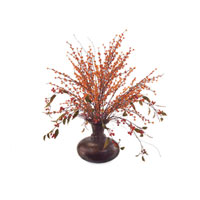 John Richard Florals Botanical in Reds JRB-2616