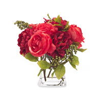 John Richard Fresh Water Look Botanical in Reds JRB-2618W