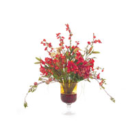 John Richard Fresh Water Look Botanical in Reds JRB-2686W