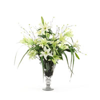 John Richard Fresh Water Look Botanical in Greens  JRB-2709W