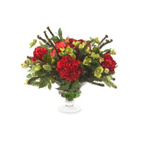 John Richard Fresh Water Look Botanical in Reds JRB-2735W