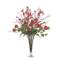 John Richard Fresh Water Look Botanical in Reds JRB-2805W