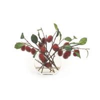 John Richard Fresh Water Look Botanical in Reds JRB-2828W