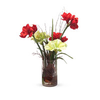 John Richard Fresh Water Look Botanical in Reds JRB-2855W
