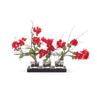 John Richard Fresh Water Look Botanical in Reds JRB-2856W
