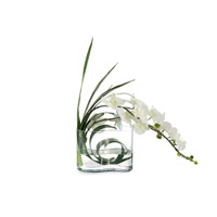 Wave Orchid White Artificial Plant