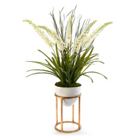 Foxtail Green Vase