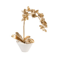 Gold on the Rocks Gold Orchid Set