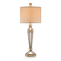 John Richard Portable 1 Light Table Lamp in Antique Gold with Glazed Mirror finish JRL-6798