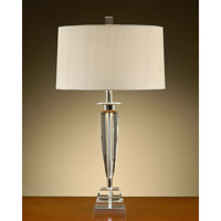 John Richard Crystal 1 Light Table Lamp in Oyster JRL-7261
