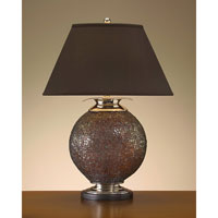 John Richard Portable 1 Light Table Lamp in Charcoal Brown JRL-7644