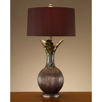 John Richard Portable 1 Light Table Lamp in Charcoal Brown JRL-7888