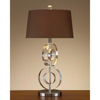John Richard Crystal 1 Light Table Lamp in Sepia Brown JRL-7932
