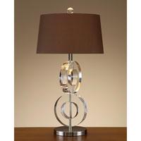 John Richard Crystal 1 Light Table Lamp in Sepia Brown JRL-7932 photo thumbnail
