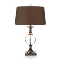 John Richard Crystal 1 Light Table Lamp in Sepia Brown JRL-7933
