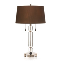 John Richard Crystal 1 Light Table Lamp in Sepia Brown JRL-7934