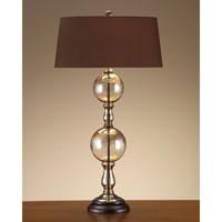 John Richard Portable 1 Light Table Lamp in Sepia Brown JRL-7958 photo thumbnail