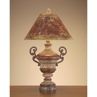 Portable 38 inch 100 watt Gold Leaf Table Lamp Portable Light