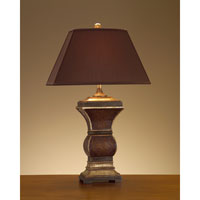 John Richard Portable 1 Light Table Lamp in Charcoal Brown JRL-8089