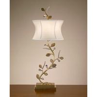John Richard JRL-8264 Right Brass 36 inch 60 watt Brass and Cloud Cream Table Lamp Portable Light