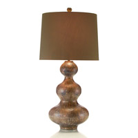 Signature 36 inch 150 watt Hammered Copper and Umber Gourd Lamp Portable Light