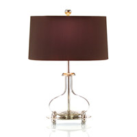 John Richard Portable 1 Light Table Lamp in Charcoal Brown JRL-8389