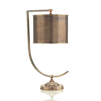 John Richard JRL-8516 Portable 23 inch 25 watt Brass Table Lamp Portable Light photo thumbnail