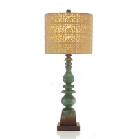 Portable 35 inch Brass Table Lamp Portable Light