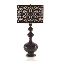 That 70s Lamp 40 inch 150 watt Black and Cream Table Lamp Portable Light