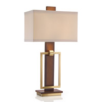 John Richard JRL-8677 Linear Illumination 33 inch 150 watt Brown and Beige Table Lamp Portable Light