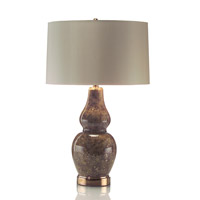 John Richard JRL-8725 Molten Mocha 31 inch 60 watt Brown and Oyster Table Lamp Portable Light