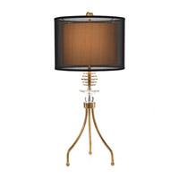 John Richard JRL-8970 Tripod 31 inch 150 watt Honey Brass and Crystal Accent Lamp Portable Light