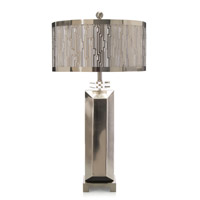 John Richard JRL-8972 Architecture Deco 31 inch 60 watt Steel and Crystal Table Lamp Portable Light