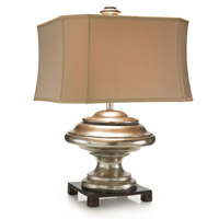 John Richard JRL-8994 Orbis 31 inch 150 watt Dark Brown and Silver Table Lamp Portable Light