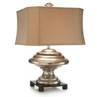 John Richard JRL-8994 Orbis 31 inch 150 watt Dark Brown and Silver Table Lamp Portable Light