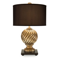 Spiral Finial 32 inch 150 watt Table Lamp Portable Light