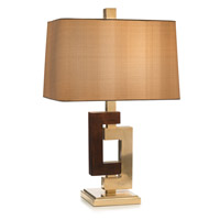 John Richard JRL-9000 Opposites Attract 25 inch 150 watt Brass and Black Glass Table Lamp Portable Light
