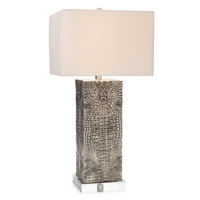 Embossed Croc 33 inch 150 watt Table Lamp Portable Light