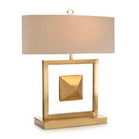 John Richard JRL-9113 The Floating Pyramid 26 inch 60 watt Brass and Clear Acrylic Table Lamp Portable Light