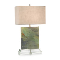 John Richard JRL-9206 Colors 31 inch 150 watt Blue Green and Clear Acrylic Table Lamp Portable Light
