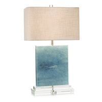 Ocean 31 inch 150 watt Blue and Cream Table Lamp Portable Light