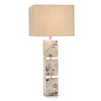 John Richard JRL-9208 Capiz Shell 35 inch 150 watt Cream and Bronze Table Lamp Portable Light