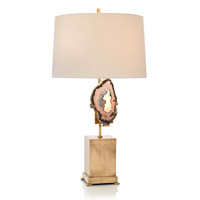 Geode 32 inch 150 watt Brass and Off-White Table Lamp Portable Light