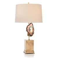 John Richard JRL-9223 Geode 32 inch 150 watt Brass and Off-White Table Lamp Portable Light